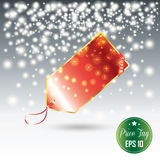 Christmas Sale tag Stock Photo