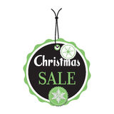 Christmas sale tag Royalty Free Stock Image