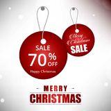 Christmas sale tag 70 off. For web design and application interface, also useful for infographics. Vector illustration Royalty Free Illustration