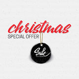 Christmas sale, tag on a shoestring Royalty Free Stock Image