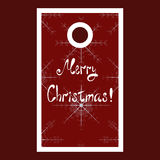 Christmas sale tag with snowflakes and Merry Stock Photography