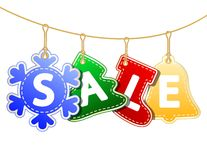Christmas Sale Tags Royalty Free Stock Images