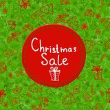 Christmas Sale Tags on christmas signs Royalty Free Stock Image
