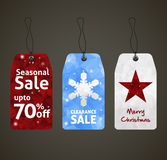Christmas Sale Tags Design Stock Photo