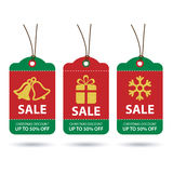 Christmas sale tags flat design Royalty Free Stock Photography