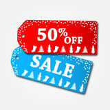 Christmas Sale Tags. Illustration isolated Stock Photos
