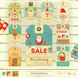 Christmas Sale Tags Royalty Free Stock Image