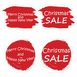 Christmas sale tags. Posters for winter sales vector illustration