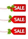Christmas sale tags Stock Photos