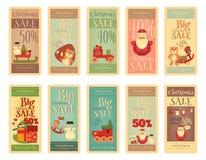 Christmas Sale Tags Set Royalty Free Stock Photography