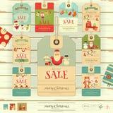 Christmas Sale Tags Royalty Free Stock Photography