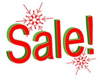 Christmas Sale Text Stock Photo
