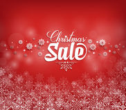 Christmas Sale Text Design with Snow Flakes Royalty Free Stock Images