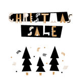 Christmas sale text . Holiday template for winter sale. Vector Illustration. Christmas sale text . Holiday template for winter sale. Vector Illustration Royalty Free Stock Photography