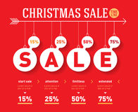 Christmas sale time line graph. Vector social activity infograph Stock Images
