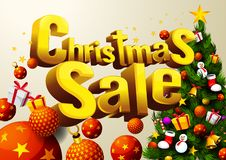 Christmas sale horizontal royalty free illustration