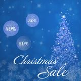 Christmas sale - trees and bowls Royalty Free Stock Image
