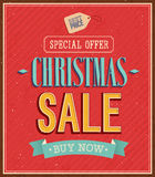 Christmas sale typographic design. Stock Images