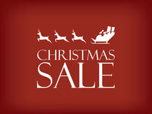 Christmas sale vector background. Santa Claus Stock Images
