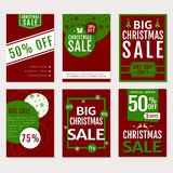 Christmas sale. Vector banners set. Stock Photos