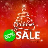 Christmas sale. Vector illustration. Christmas tree Stock Photo