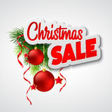 Christmas sale. Vector template Stock Photo