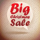 Christmas sale vintage design template. Stock Photography