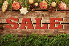Christmas sale - vintage poster design Royalty Free Stock Photography