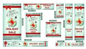 Christmas sale web banners Royalty Free Stock Image