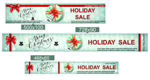 Christmas sale web banners Royalty Free Stock Images