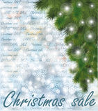 Christmas sale winter card Royalty Free Stock Images
