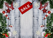 Christmas Sale. Xmas promotion, Shopping background, Boxing day stock images