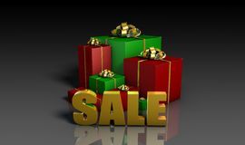 Christmas Sales stock illustration
