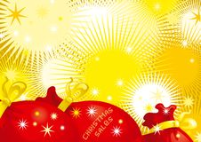 Christmas  sales. Some red bags of Santa with gifts and an inscription  christmas  sales Royalty Free Stock Photos
