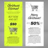 Christmas sales banners Stock Photo