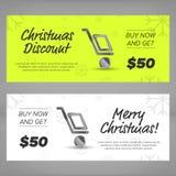 Christmas sales banners Stock Photos