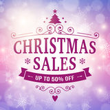 Christmas sales bussiness background Royalty Free Stock Photo