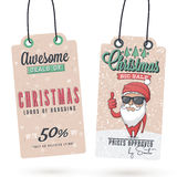 Christmas Sales Hang Tags Stock Image