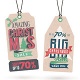 Christmas Sales Hang Tags Royalty Free Stock Image