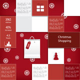 Christmas sales infographic vector design Royalty Free Stock Photos