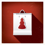 Christmas sales shopping bag concept design for Stock Images
