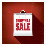 Christmas sales shopping bag concept design for Royalty Free Stock Image