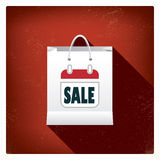 Christmas sales shopping bag concept design for Stock Image