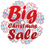 Christmas sales with snowflake. Royalty Free Stock Images