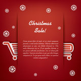 Christmas sales vector illustration Royalty Free Stock Images