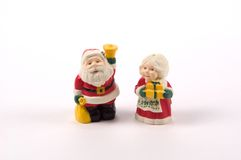 Christmas Salt and Pepper Shakers royalty free stock images