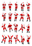 Christmas Santa. Happy Christmas Santa. Isolated over white background Royalty Free Stock Images