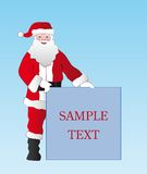 Christmas santa. For different advertisement stock illustration