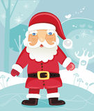 Christmas Santa. Claus in the forest - vector illustration. To see similar, please VISIT MY GALLERY Royalty Free Stock Photo