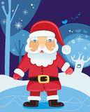 Christmas Santa. Claus in the forest - vector illustration. To see similar, please VISIT MY GALLERY Stock Photography